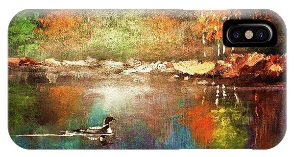 Autumn Lake Reflections IPhone Case