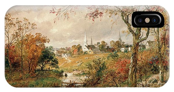 Rural America iPhone Case - Autumn Landscape by Jasper Francis Cropsey