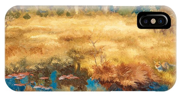 Swedish Painters iPhone Case - Autumn Landscape With Fox by Bruno Liljefors