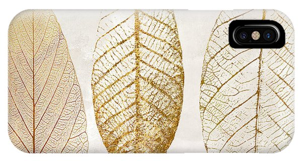 Autumn iPhone X Case - Autumn Leaves IIi Fallen Gold by Mindy Sommers