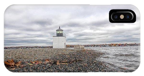Autumn Leaves On Salem Harbor IPhone Case