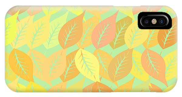 Fall Colors iPhone Case - Autumn Leaves Pattern by Gaspar Avila
