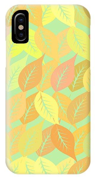 Fall iPhone Case - Autumn Leaves Pattern by Gaspar Avila