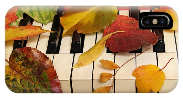 Autumn Leaves Tickle The Ivories IPhone Case
