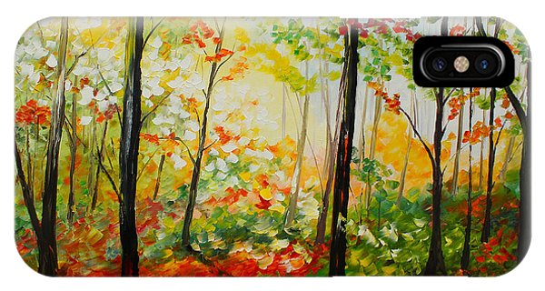 IPhone Case featuring the painting Autumn Light by Kevin Brown