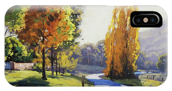Maple Leaf Art iPhone Case - Autumn Light Tarana by Graham Gercken
