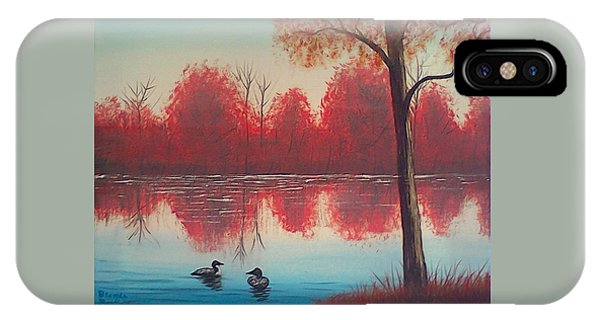Autumn Loons IPhone Case