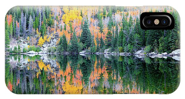 IPhone Case featuring the photograph Autumn Mirror At Bear Lake by David Chandler