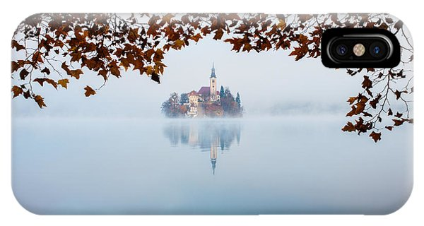 Autumn Mist Over Lake Bled IPhone Case