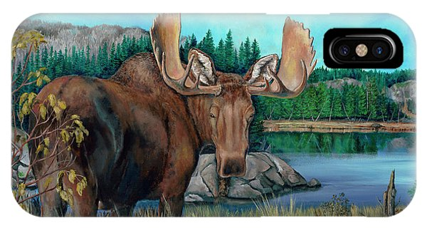 Autumn Moose IPhone Case