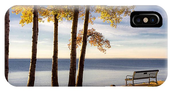 Lake Superior iPhone Case - Autumn Morn On The Lake by Mary Amerman