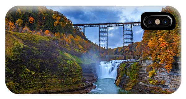 New Leaf iPhone Case - Autumn Morning At Upper Falls by Rick Berk