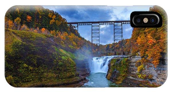 Trestle iPhone Case - Autumn Morning At Upper Falls by Rick Berk