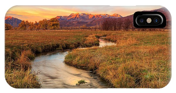Autumn Morning In Heber Valley. IPhone Case