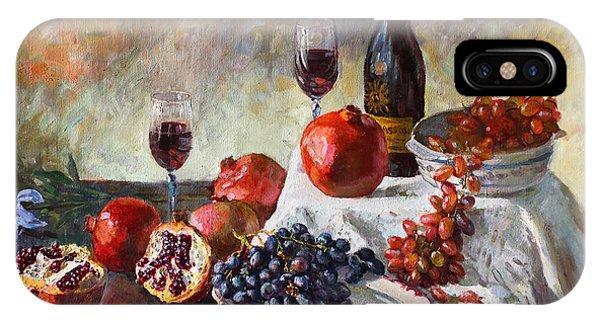 Grape iPhone X Case - Autumn N' A Flower by Ylli Haruni