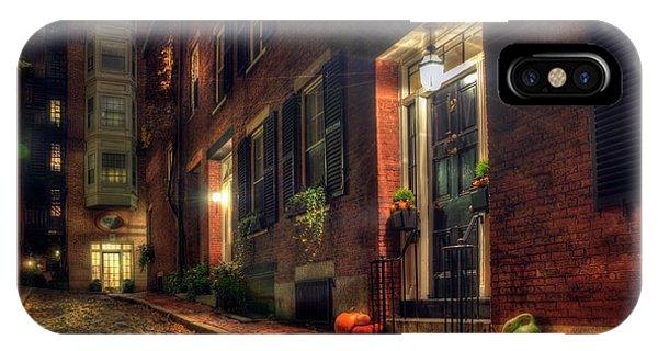 Autumn On Acorn Street - Boston IPhone Case