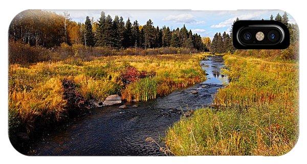 Autumn On Jackfish Creek IPhone Case