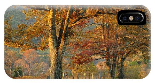 Autumn On Sparks Lane IPhone Case