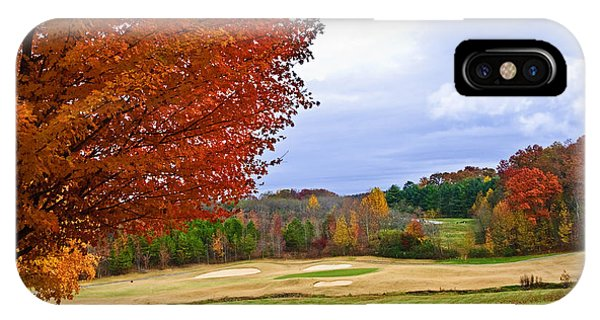 Autumn On The Golf Course IPhone Case
