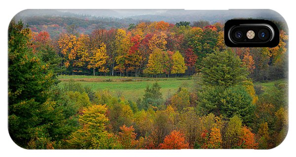 IPhone Case featuring the photograph Autumn On Winslow Hill by Cindy Lark Hartman
