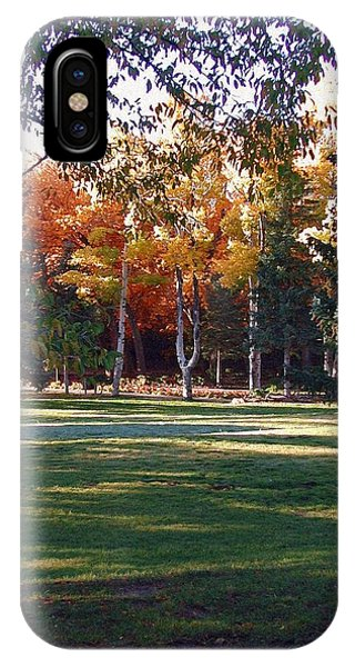 IPhone Case featuring the digital art Autumn Park by Deleas Kilgore