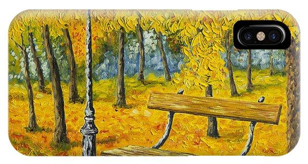 Salo iPhone Case - Autumn Park by Veikko Suikkanen