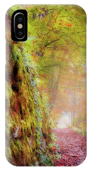 IPhone Case featuring the photograph Autumn Path by Geoff Smith