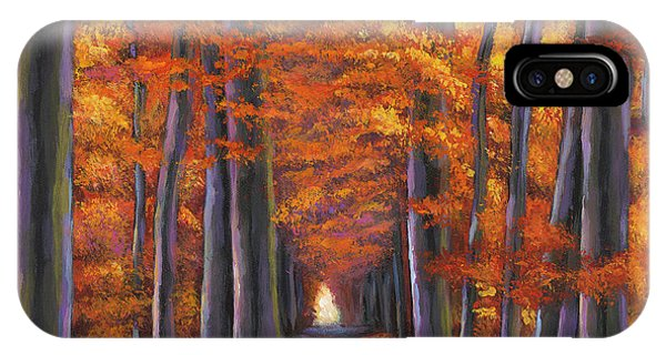 French Landscape iPhone Case - Autumn Path by Johnathan Harris