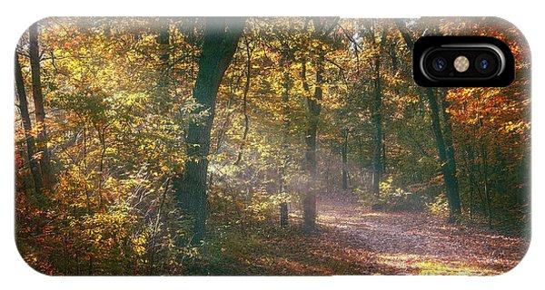 Path iPhone Case - Autumn Path by Scott Norris