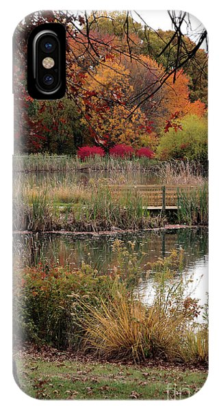 Autumn Pond In Maryland IPhone Case