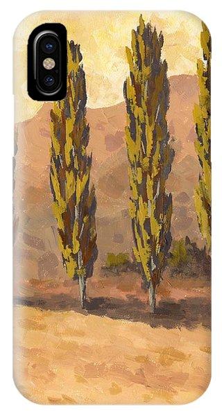 Autumn Poplars IPhone Case