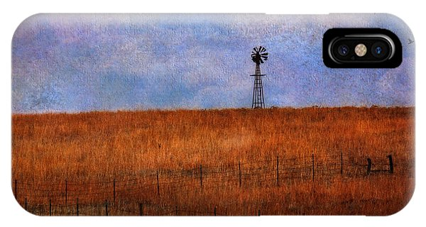 Autumn Prairie Windmill IPhone Case