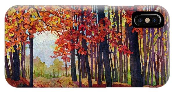 Path iPhone Case - Autumn Rapture by Hailey E Herrera