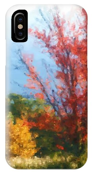 Autumn Red And Yellow IPhone Case