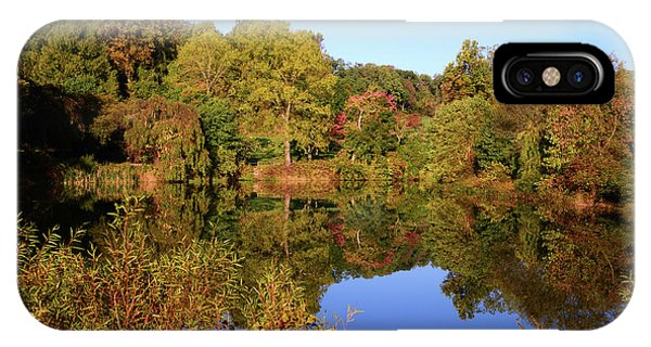 IPhone Case featuring the photograph Autumn Reflection by Angie Tirado
