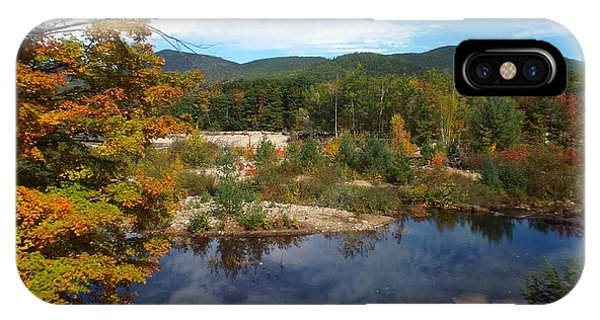 IPhone Case featuring the photograph Autumn Reflection by Barbara Von Pagel