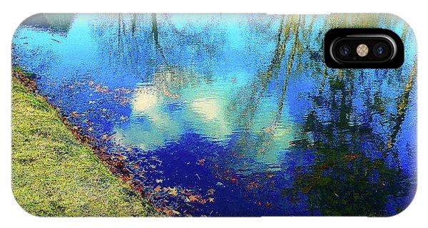 Autumn Reflection Pond IPhone Case