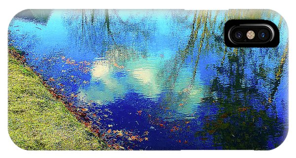 Autumn Reflection Pond IPhone Case