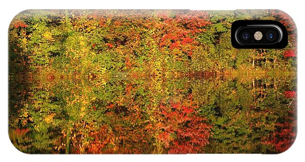 Autumn Reflections In A Pond IPhone Case