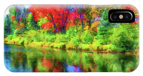 Dorset iPhone Case - Autumn Reflections by Leslie Montgomery