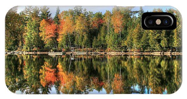 Autumn Reflections Of Maine IPhone Case