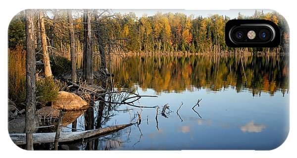 Autumn Reflections On Little Bass Lake IPhone Case