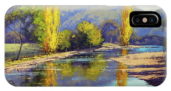 Nature Scene iPhone Case - Autumn Reflections Tumut by Graham Gercken