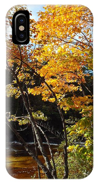 IPhone Case featuring the photograph Autumn River by Barbara Von Pagel