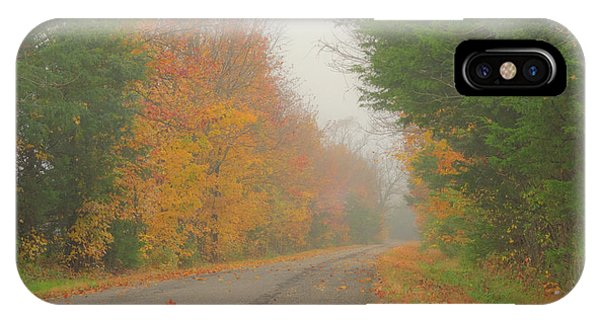 IPhone Case featuring the photograph Autumn Roads by Wanda Krack