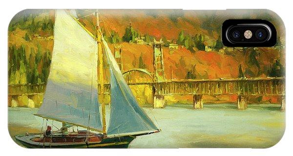 Grey Skies iPhone Case - Autumn Sail by Steve Henderson