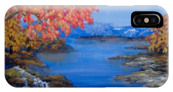 IPhone Case featuring the painting Autumn by Saundra Johnson