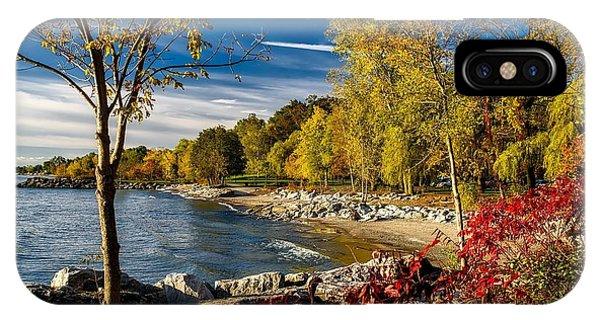 Autumn Scene Lake Ontario Canada IPhone Case