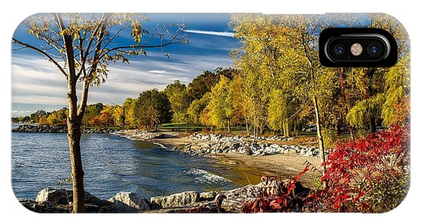 Autumn Scene Lake Ontario Canada IPhone Case