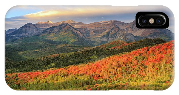 Autumn Splendor In The Wasatch Back. IPhone Case